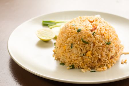 Healthy Homemade Fried Rice. Stock Photo