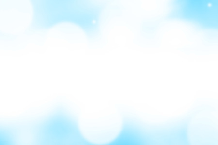 Blurred light blue gradient bokeh abstract background.