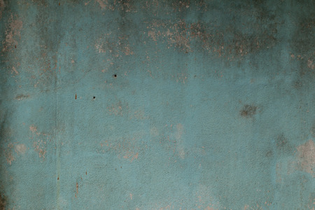 Old cement wall paint blue color abstract background