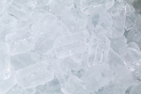 Closeup view of frozen ice.