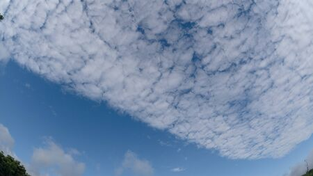 White cloud object for nature design summer background. Stok Fotoğraf