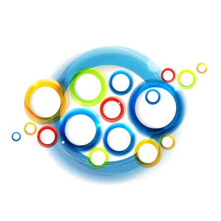 Shiny colorful minimalistic abstract background with circles. Eps10 Vector