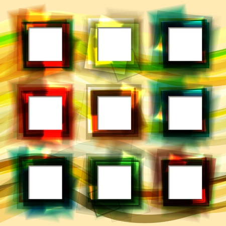 Colorful geometric abstract background with grid of squares Stock Vector - 17899746