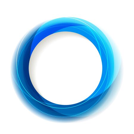 Blue circle frame with white copyspace Stock Vector - 17899207