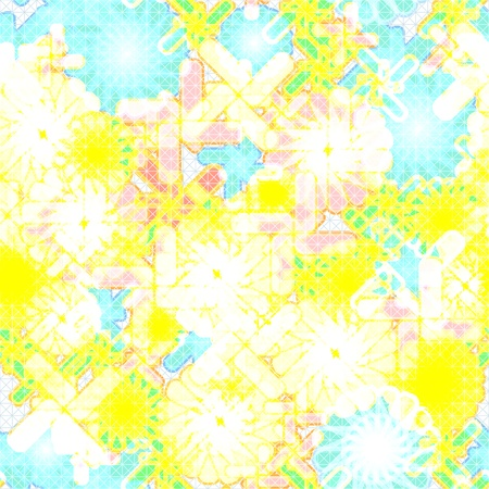 Seamless abstract yellow floral grunge background