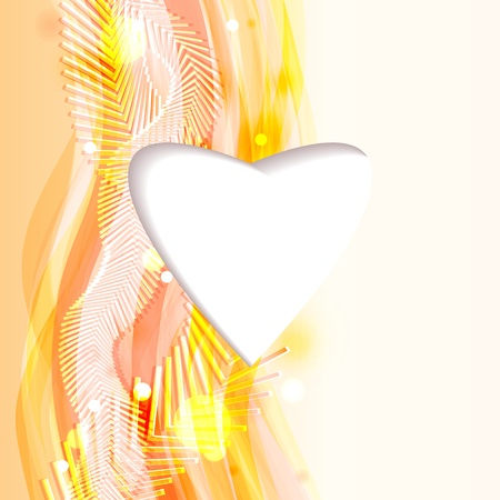 Bright abstract background with heart and flowing lines   Stock Vector - 17899412