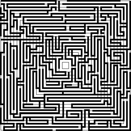 Black and white background with maze pattern Stock Vector - 18090986