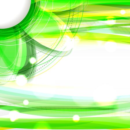 Abstract green shiny background with flower  Eps10 Stock Vector - 19080022