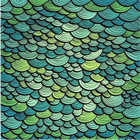 Resumen de fondo marino verde imitando las escamas de pescado Eps10
