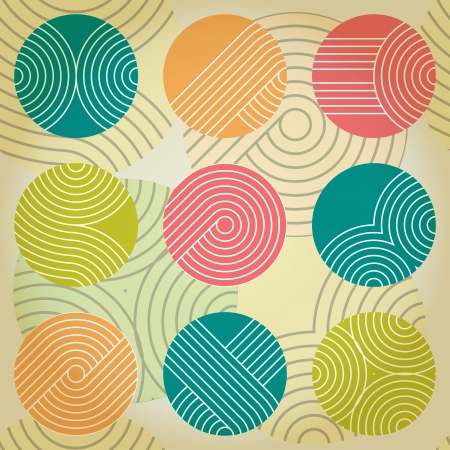 circle pattern: Seamless geometrical ornament with regular striped circles Eps10