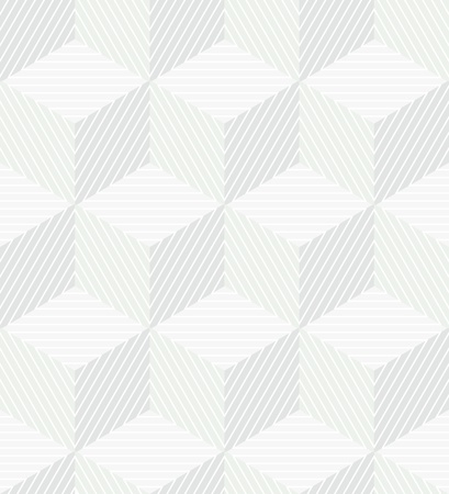 Seamless geometrical monochrome background with striped cubes