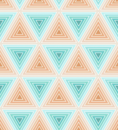 seamless bacground: Seamless pastel soft blue and pink geometric bacground with striped triangkes