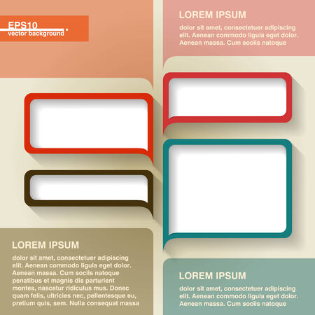 Infographics vector geometrical abstract background with vintage speech bubbles