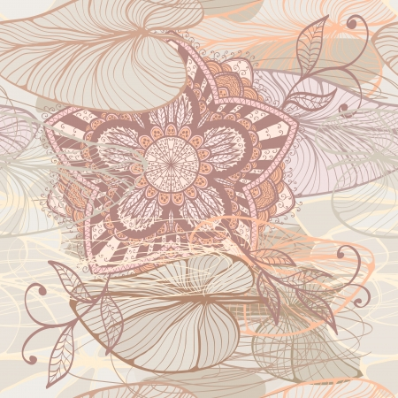 Seamless elegant soft floral pattern with water lilys Vector