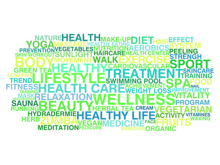 Healthy lifestyle  Word cloud concept