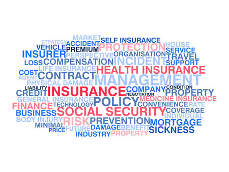 Insurance  Word cloud concept Vector