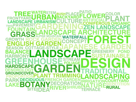 english countryside: Landscape design  Word cloud concept