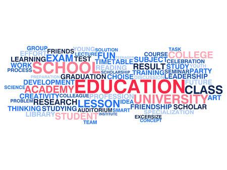 choise: Education  Word cloud concept Illustration