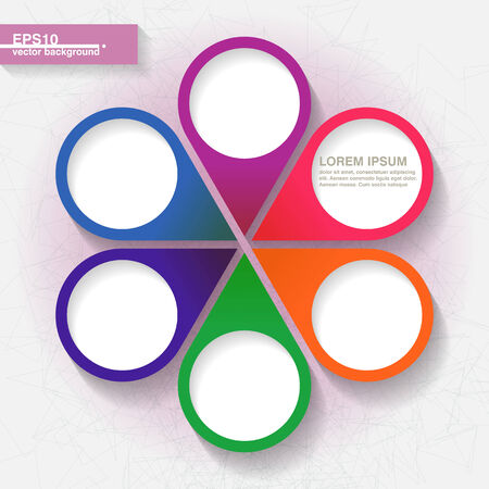 Infographic template with six colorful labels   Vector