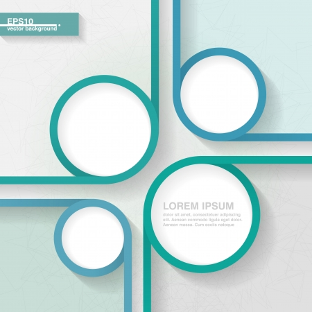 Abstract business minimalistic template for infographics with four quarters   Vector