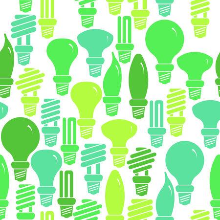bombillo ahorrador: Modelo verde y blanco transparente con l�mparas de bajo consumo