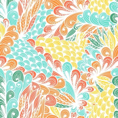 Seamless floral vintage fantasy spring doodle pattern