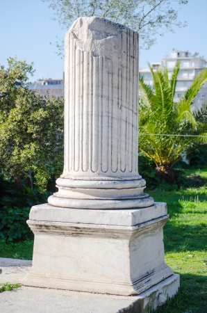 Broken marble column photo