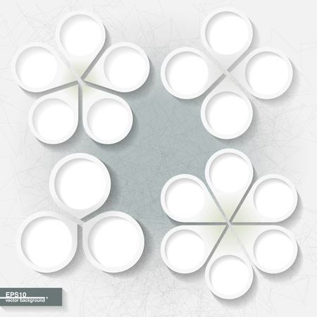 Set of infographic templates with three, four, five and six white paperl labels  Eps10 Illustration