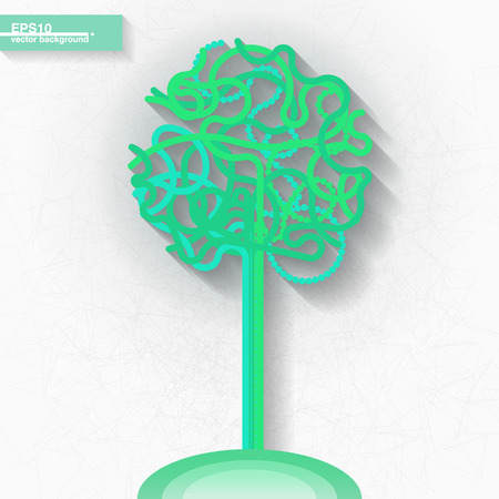 Infographic template with green tree