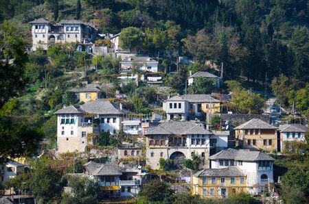 albanian: Traditional albanian house in Gjirokaster