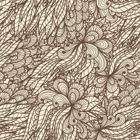 ornamented: Seamless floral vintage ornamented doodle pattern