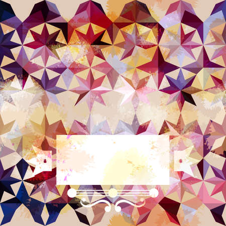grunge pattern: Colorful abstract geometric pink grunge pattern   Illustration