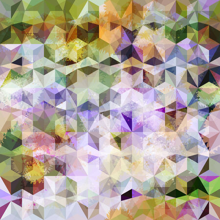 grunge pattern: Colorful abstract geometric grunge pattern  Eps10 Illustration