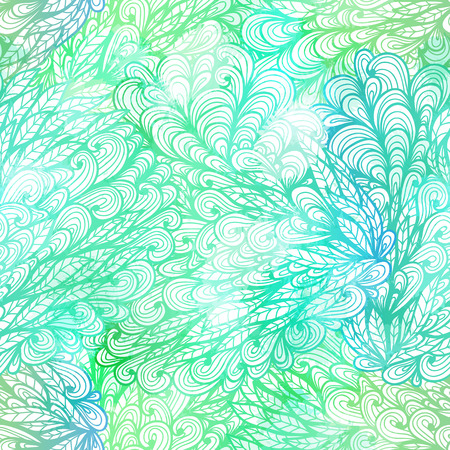 Seamless floral grunge  blue and green gradient pattern   Vector
