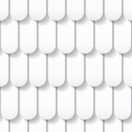 Seamless white origami pattern with roof tiles   Vector