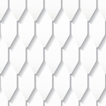 지붕 타일 원활한 흰색 종이 접기 패턴
