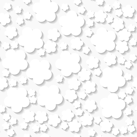 origami pattern: Seamless white origami pattern with flowers  Eps10 Illustration