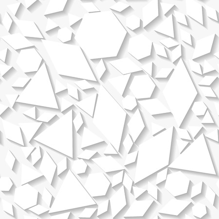 origami pattern: Seamless white origami pattern with geometrical shapes