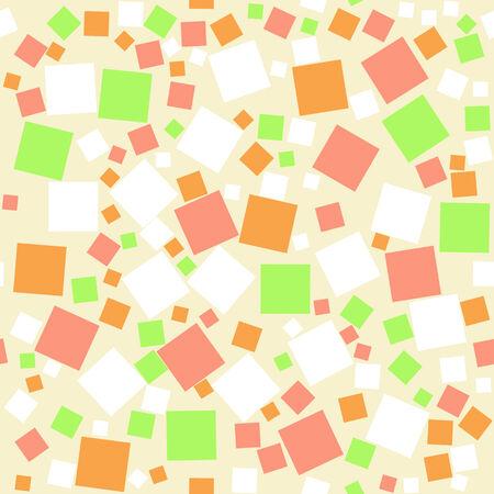 Seamless retro geometric pattern with random squares