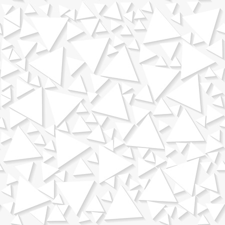 origami pattern: Seamless white origami pattern with random triangles