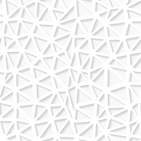 origami pattern: Seamless white triangulated origami pattern. Eps10 Illustration