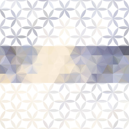 floral elements: Lavender pastel defocused background with geometric ornament and bright stripe. Eps10