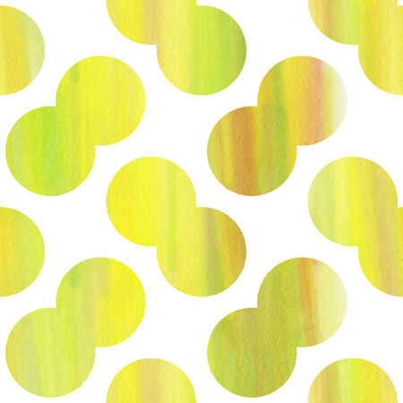 Green and yellow watercolor abstract seamless texture Vector