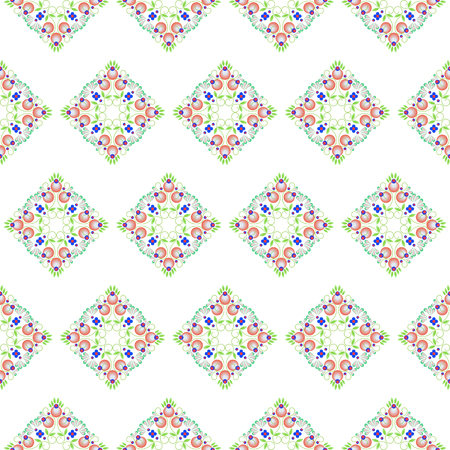 Seamless baroque floral pattern Vector