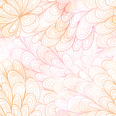 Seamless floral grunge pastel pink gradient pattern. Vector