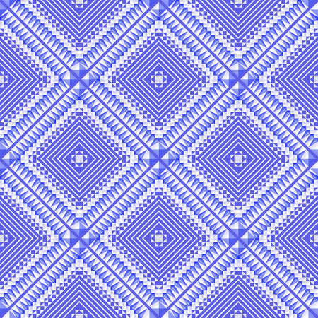 Seamless geometric blue  pattern. Eps10 Vector