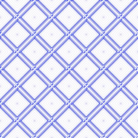 Seamless geometric blue  pattern. Vector