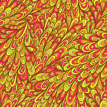 Seamless hand drawn abstract pattern with swirls