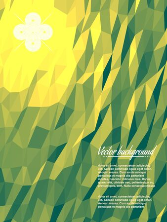 vivid: Colorful abstract geometric triangulated pattern