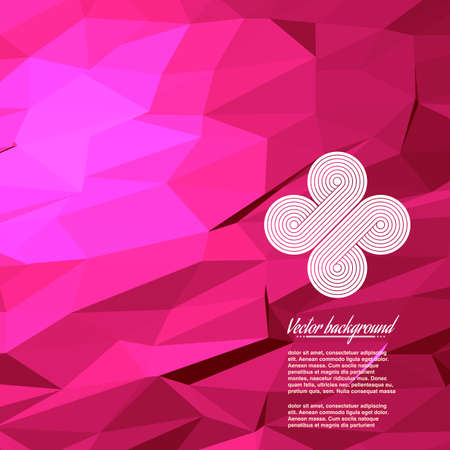 Colorful abstract geometric triangulated pattern